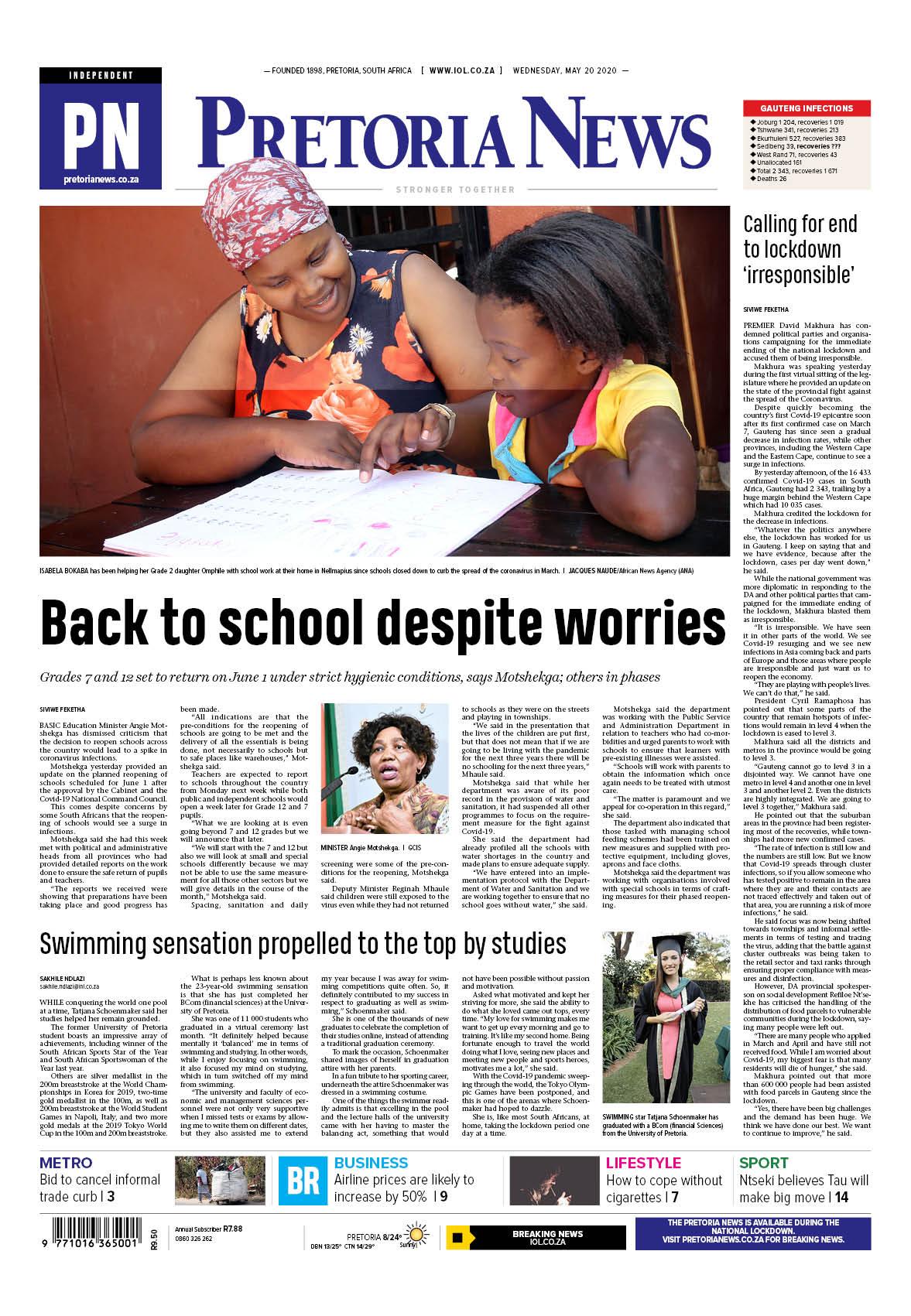 Pretoria News May 20 2020
