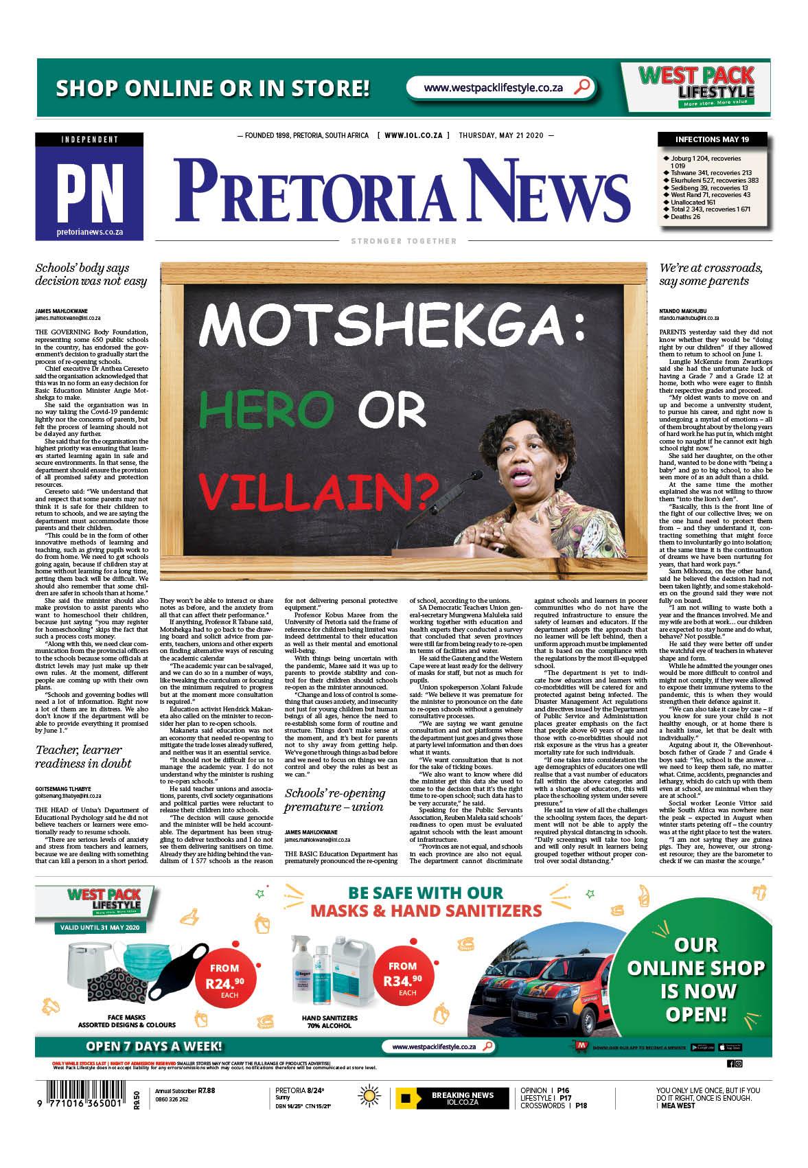 Pretoria News May 21 2020
