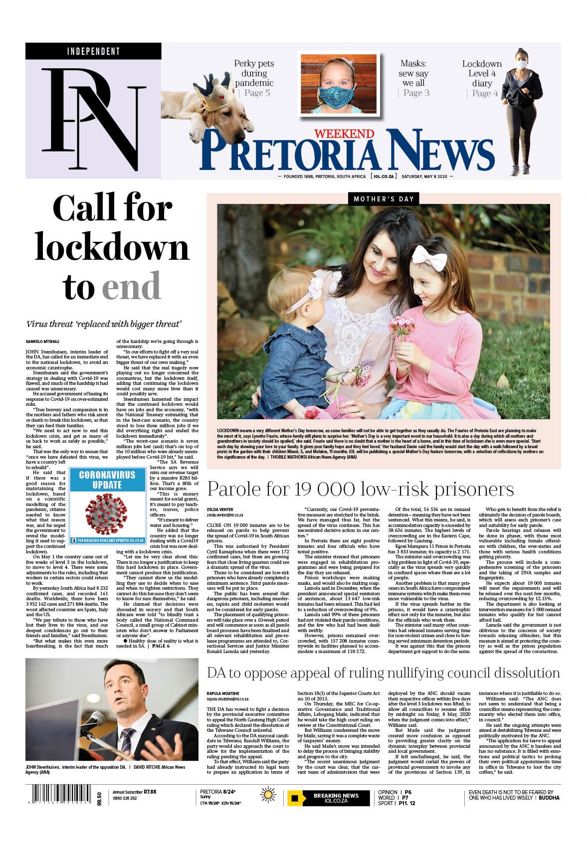Pretoria News 9 May 2020