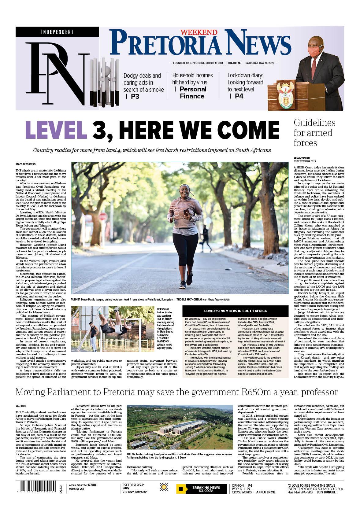 Pretoria News Weekend May 16 2020
