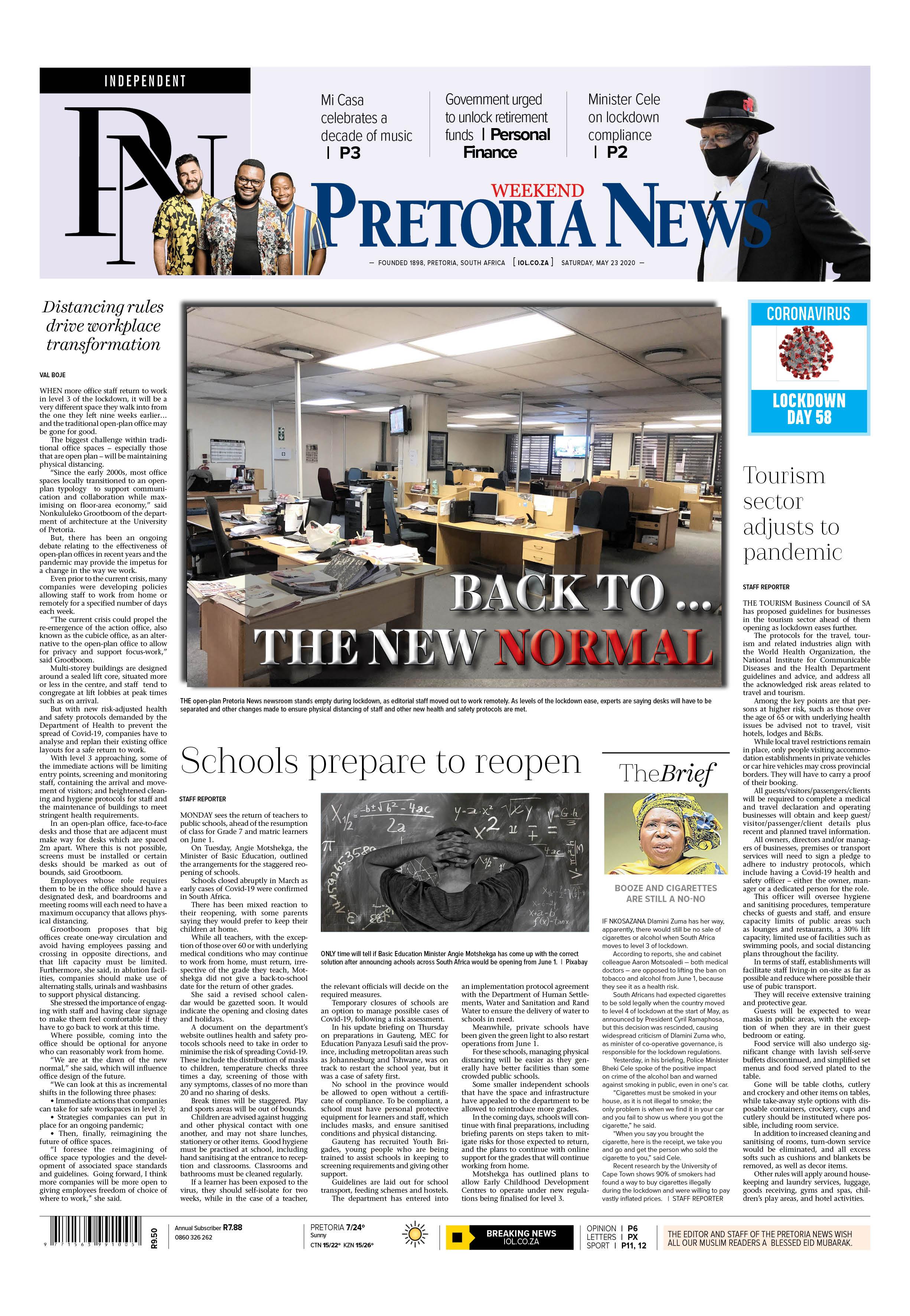 Pretoria News Weekend May 23 2020