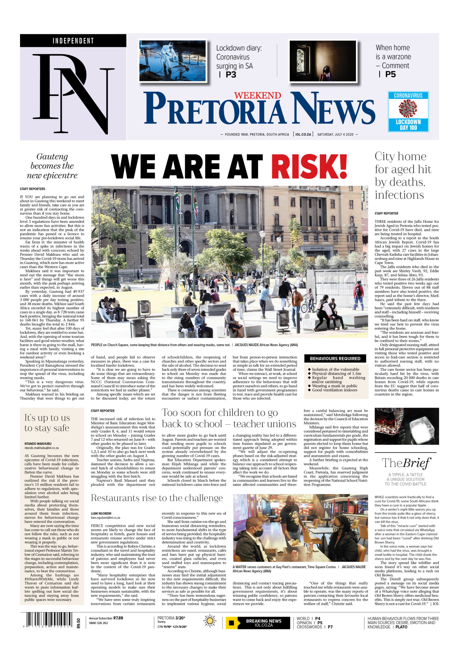 Pretoria News Weekend July 4 2020
