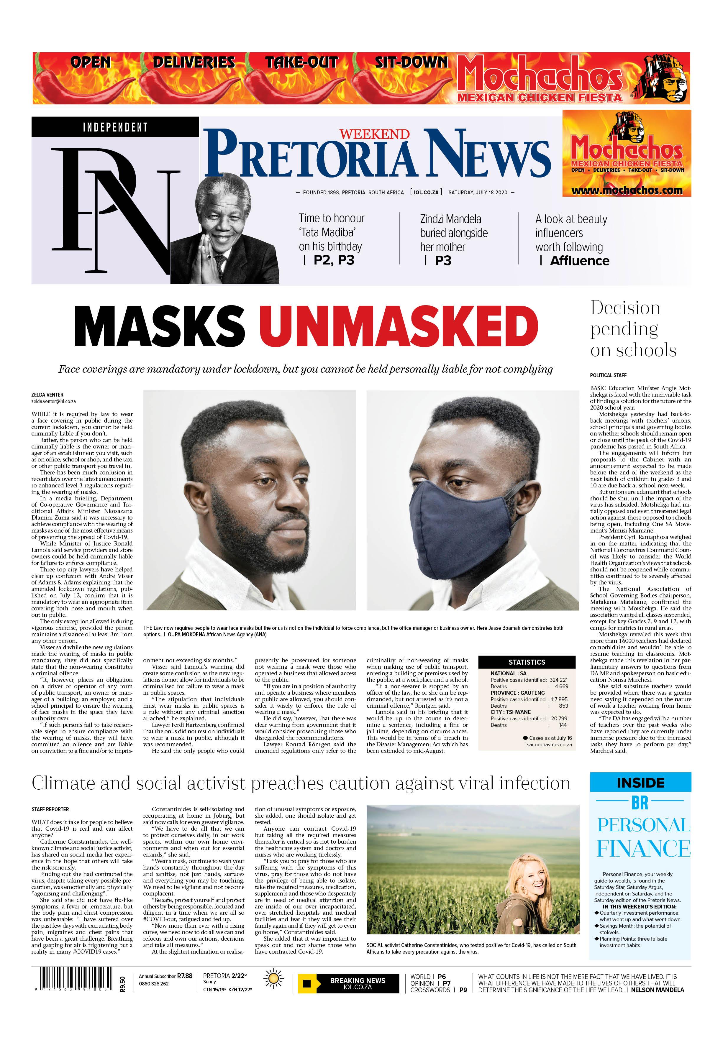 Pretoria News Weekend July 18 2020