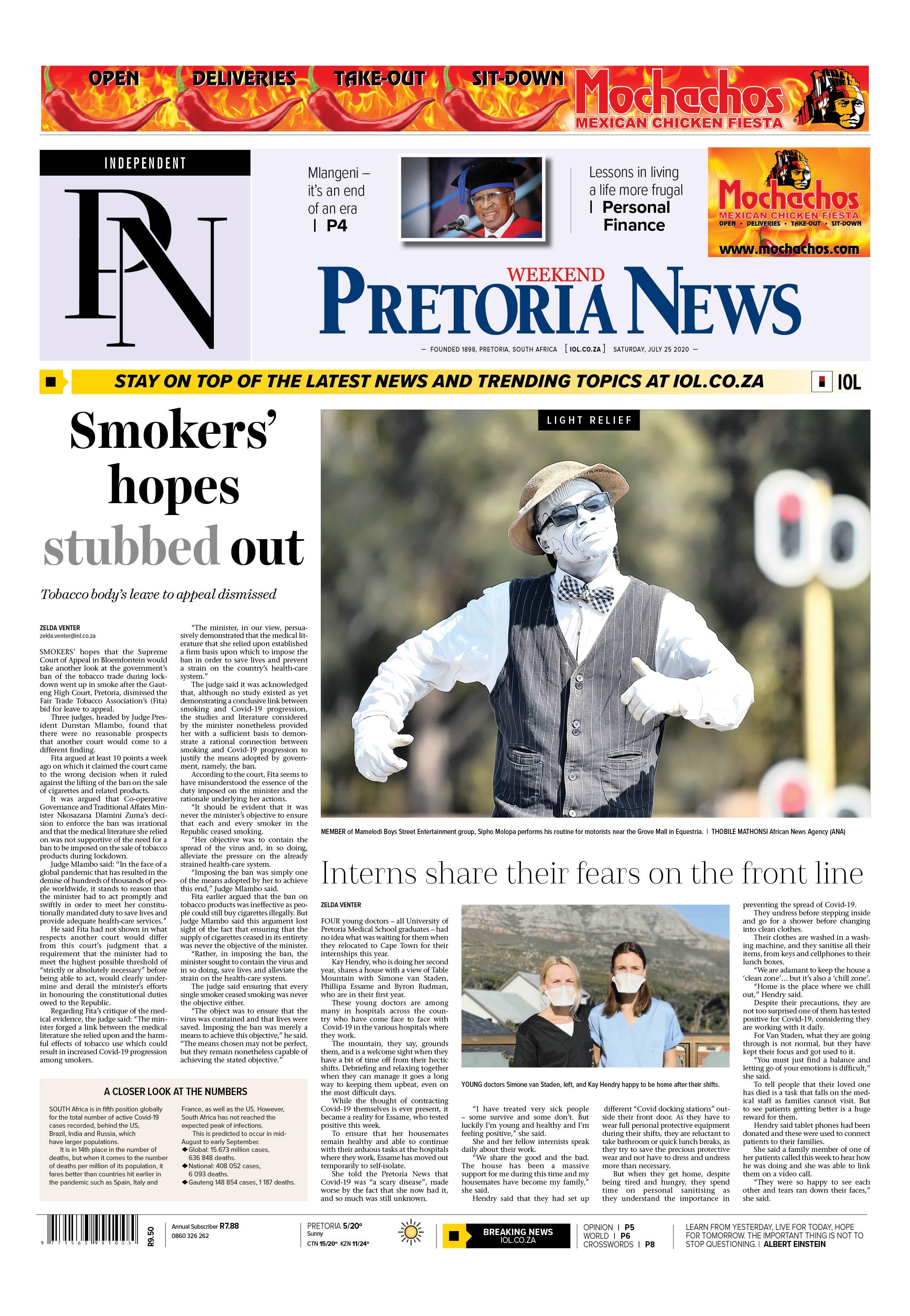 Pretoria News Weekend July 25 2020